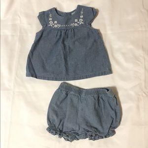 Carters baby girl matching set